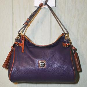 Dooney & Bourke Plum Pebble Zip Hobo Bag EUC